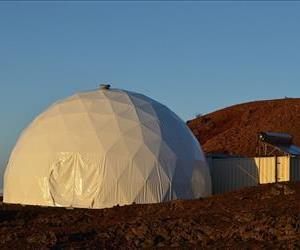 The 36-foot-wide, 20-foot-tall Hawaii Space Exploration Analog and Simulation dome.