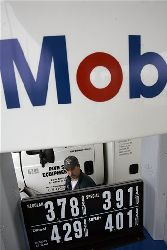 An Exxon Mobil station in Williamsville, N.Y.
