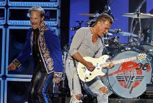 David Lee Roth, left, and Eddie Van Halen perform with Van Halen at Madison Square Garden Friday, May 23, 2008 in New York.