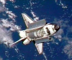 Space Shuttle Discovery delivered spare parts to fix the International Space Station's broken toilet.