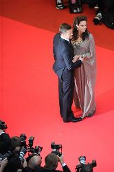 American actor Brad Pitt and American actress Angelina Jolie arrive for the premiere of the film Changeling at the 61st international Cannes film festival, on Tuesday, May 20, 2008.