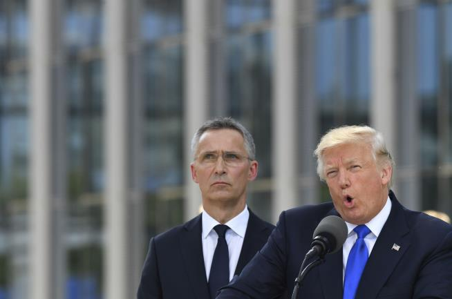 Trump blasts North Atlantic Treaty Organisation allies for not paying fair share