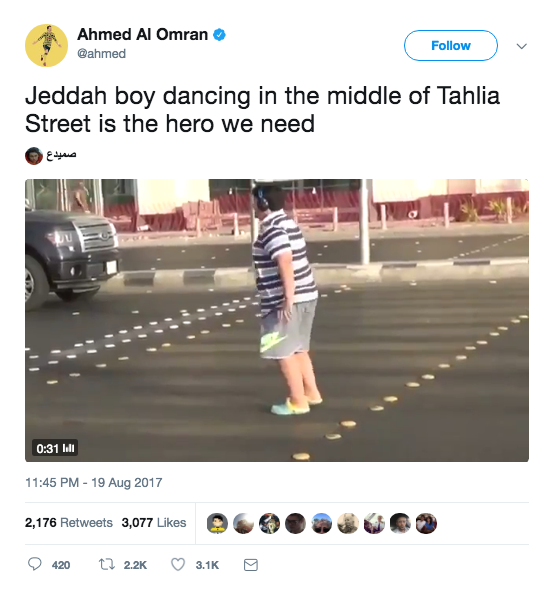 Teen arrested for doing Macarena on Saudi Arabian street