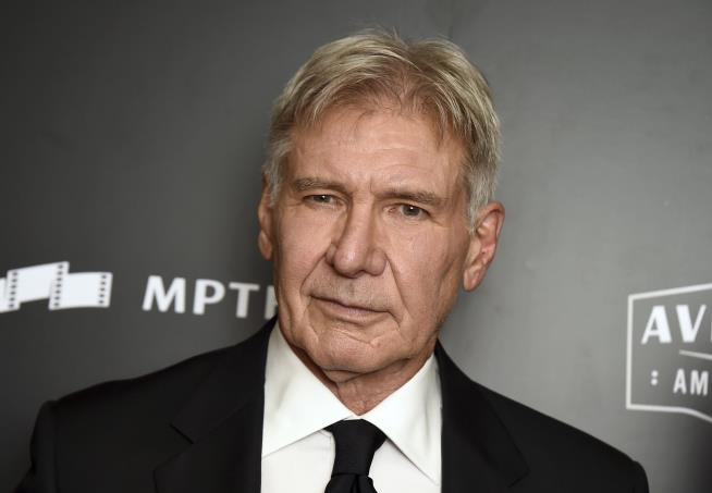 Harrison Ford helps out driver who veered off California highway