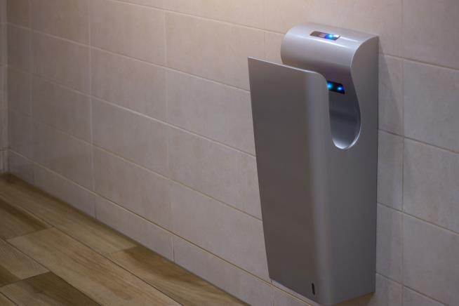 Public bathroom hand dryers spray feces on your hands