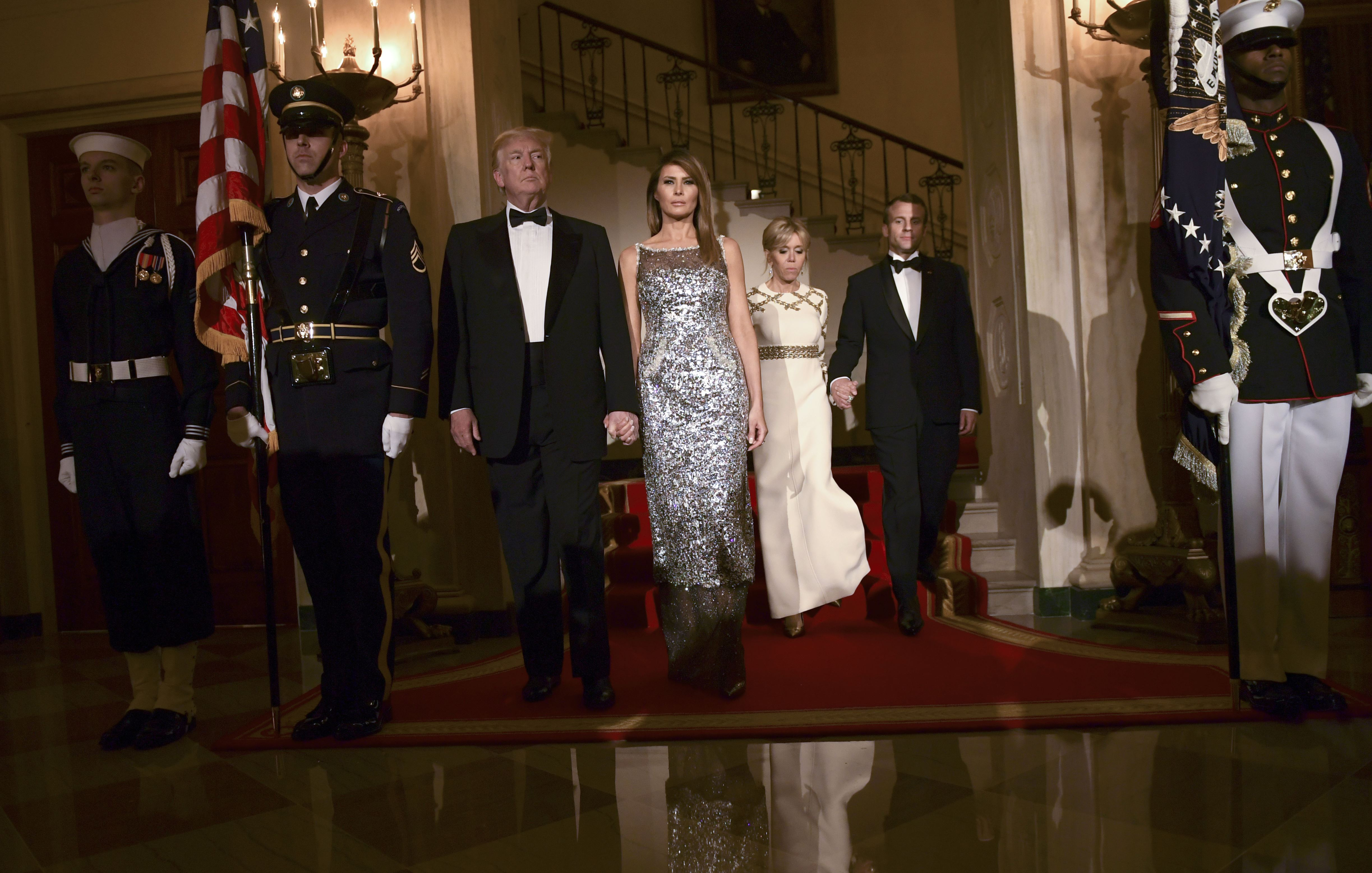 'Incredible' Melania Wins Praise for Trump's First State Dinner