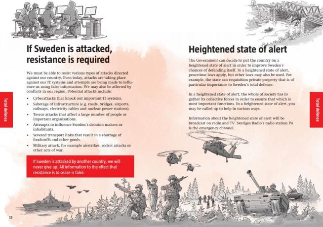 Sweden Distributes Pamphlets about 'Doos' and 'Don'ts' in Global War Threat