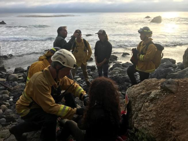 Woman rescued week after vehicle plunges off cliff in US