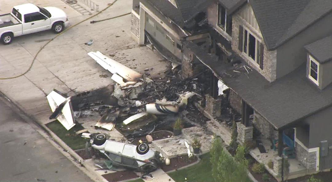 Police: Man Crashed Plane Into His Own Home
