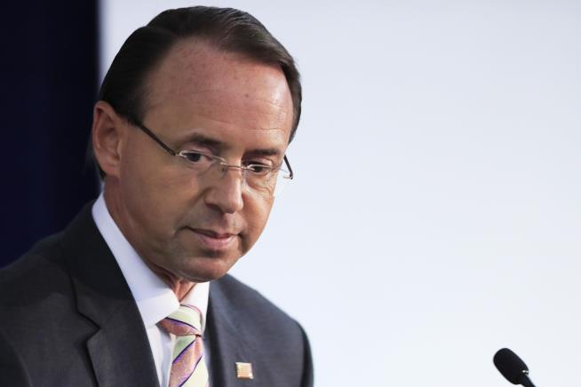 Donald Trump hints he may 'get rid of' Rod Rosenstein