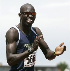 Former Sudanese refugee Lopez Lomong has been chosen to carry the US flag at the Olympic opening ceremonies.