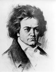 This is an undated sketch of German composer Ludwig van Beethoven.