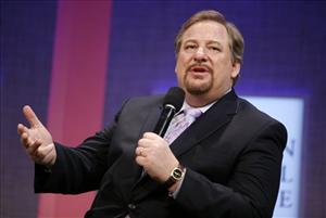 Rick Warren, pastor of Saddleback Church, speaks during a panel discussion on rural development in New York.