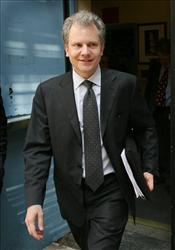 Arthur Pinch Sulzberger Jr., the chairman and publisher of The New York Times Company, leaves the company's shareholders' meeting last year.
