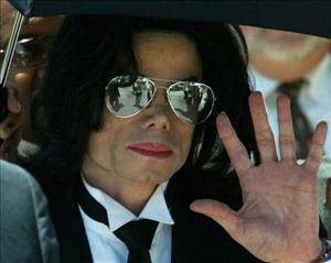 Michael Jackson during his child molestation trial in 2005. A tabloid report says he has only 6 months to live.