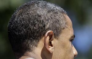 Barack Obama's head.