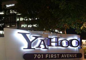 Exterior view of Yahoo headquarters in Sunnyvale, Calif., Monday, Oct. 20, 2008.