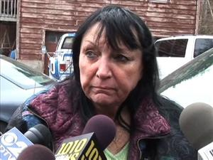Sandra Herold, owner of Travis the chimpanzee, speaks to reporters in Stamford, Conn. on Wednesday, Feb. 18, 2009.