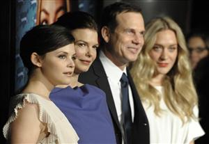 Big Love cast members Ginnifer Goodwin, Jeanne Tripplehorn, Bill Paxton and Chloe Sevigny pose together at the show's third season premiere early this year in Los Angeles.