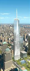 This 2006 artist's rendering shows the 1,776-foot building originally called the Freedom Tower currently under construction at the World Trade Center site.