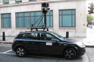 A Google Street View camera car waits at a light on Bury Place in London last year.