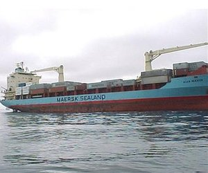 This undated image shows the 17,000-ton container ship Maersk Alabama.