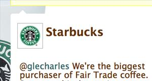 Starbucks hopes its Twitter feed will help advertise.