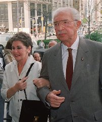 Leona Helmsley and her husband, self-made billionaire Harry Helmsley, arrive at federal court in this file photo of April 30, 1988, in New York, where they were facing tax evasion charges. Leona Helmsley died in Greenwich, Ct., Monday, Aug. 20, 2007 at the age of 87. She was reviled as...