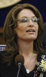 In this Jan. 22, 2009 file photo, Alaska Gov. Sarah Palin gives the state of the state address to a joint session of the Senate and House in the Capitol in Juneau, Alaska.
