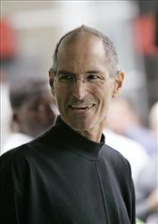 Apple CEO Steve Jobs smiles at a conference in San Francisco last year. A Tennessee hospital has confirmed that Jobs received a liver transplant there earlier this year.