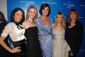 The Real Housewives of New York City, Bethenny Frankel, Alex McCord, LuAnn de Lesseps, Ramona Singer and Jill Zarin, pose together.