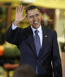 President Barack Obama arrives at a town hall meeting on health care in a Kroger store in Bristol, Va., Wednesday, July 29, 2009. He's probably thinking racist thoughts right now, says Glenn Beck.