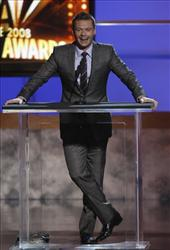 Ryan Seacrest presents an award at the National Council of La Raza ALMA Awards in Pasadena, Calif., on Aug. 17, 2008.