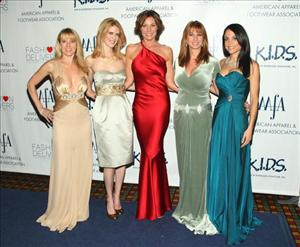 The cast of 'The Real Housewives of New York City,' Romona Singer, Alex McCord, Luann De Lesseps, Jill Zarin, and Bethenny Frankel, arrive at the 2008 American Image Awards May 14, 2008 in New York.