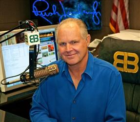 Rush Limbaugh in his Palm Beach, Fla. radio studio.