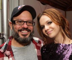 David Cross and his girlfriend, fancy Hollywood actress Amber Tamblyn.