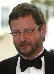 Danish film director Lars von Trier arrives for a film screening at the Cannes film festival in 2005.