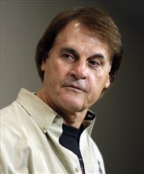 Tony La Russa speaks during today's news conference in St. Louis.