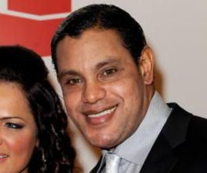 Sammy Sosa and wife Sonia arrive at an event in Las Vegas on Tuesday.