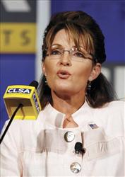 Sarah Palin attends the 16th annual CLSA Investors' Forum in Hong Kong, Sept. 23, 2009.