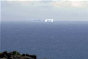 Australian scientists spotted this giant iceberg floating off Macquarie Island.