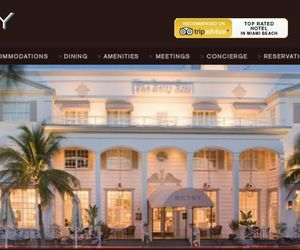 This screenshot from the website of The Betsy, a Miami Beach hotel whose TripAdvisor reviews have been called into question.