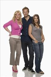 Host Alison Sweeney, left, and trainers Bob Harper and Jillian Michaels from the NBC series The Biggest Loser.