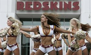 An alumni group of the the Washington Redskins cheerleaders became suspicious during a recent special half-time show when Michaele Silahi couldn't execute the moves.