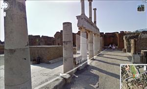 Pompeii in Google Street View.
