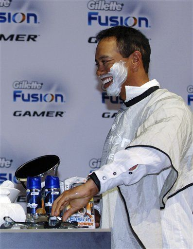 accenture gillette back away from tiger woods