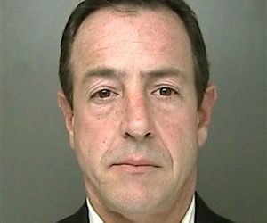 This photo provided by the Suffolk County Police shows Michael Lohan, April 6, 2009, following his arrest on a misdemeanor charge of aggravated harassment.