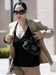 Nadya Suleman arrives at the City of Orange Court house on Monday July 27, 2009.