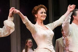 Catherine Zeta Jones appears at the curtain call for the Broadway opening performance of 'A Little Night Music' in New York, Sunday, Dec. 13, 2009.