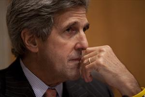 Senate Foreign Relations Committee Chairman Sen. John Kerry takes part in a hearing on the Al-Qaeda threat in Pakistan and Afghanistan.